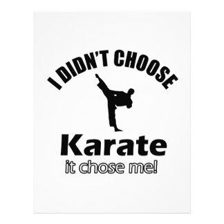 No eligió karate membrete