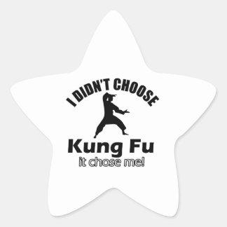 No eligió KUNG FU Pegatina Forma De Estrella