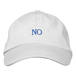 NO EMBROIDERED HATS