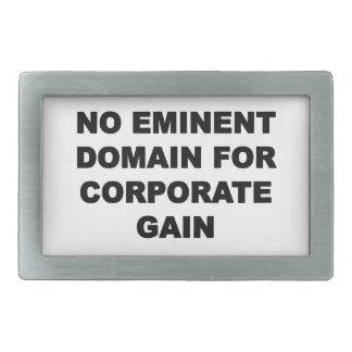 No Eminent Domain for Corporate Gain Rectangular Belt Buckle
