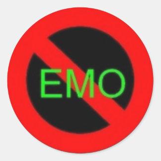 no emoz plz classic round sticker