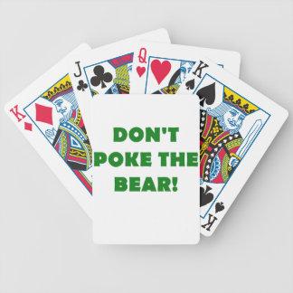 No empuje el oso cartas de juego