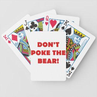 No empuje el oso barajas