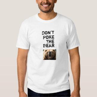 No empuje el oso playeras