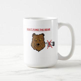 No empuje el oso tazas