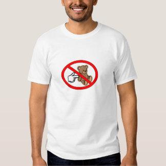 No empuje la camiseta del oso camisas