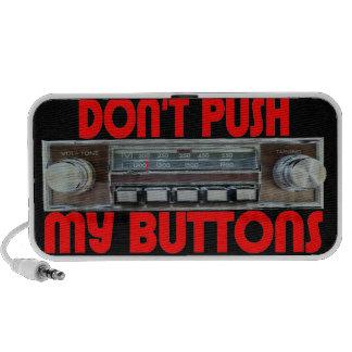 No empuje mis botones notebook altavoz