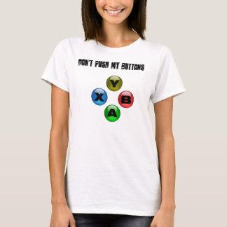No empuje mis botones (videojugador FTW del chica) Playera
