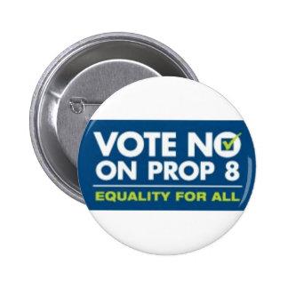 No en el apoyo 8 - insignia pin redondo de 2 pulgadas
