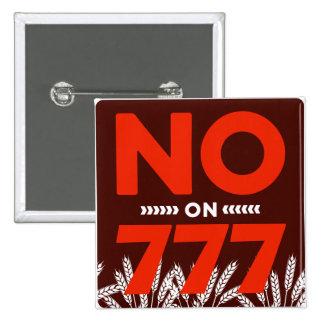 No en el botón 777 pin cuadrado