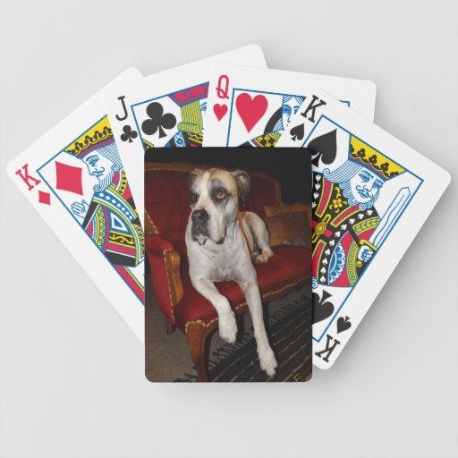 No en este sofá baraja cartas de poker