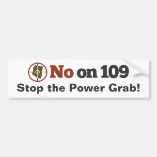 NO en la pegatina para el parachoques 109 Pegatina De Parachoque