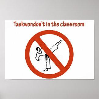 no en la sala de clase impresiones