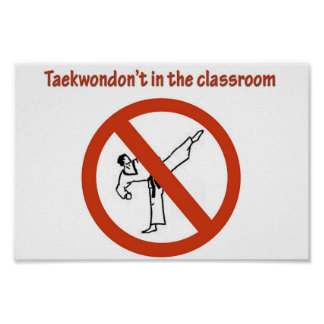 no en la sala de clase póster