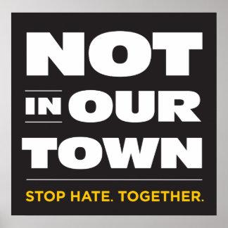 No en nuestro poster de la ciudad póster