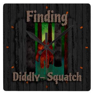 no encontrar Bigfoot Reloj Cuadrado