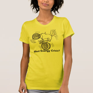 No Energy Crisis Here -Our Bicycle Girl Has Plenty T-shirt
