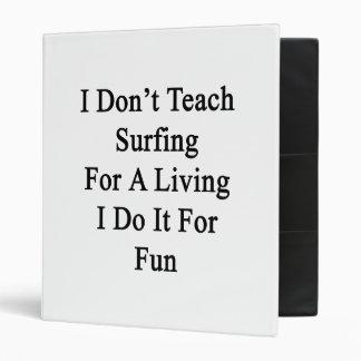No enseño a practicar surf para una vida que la ha