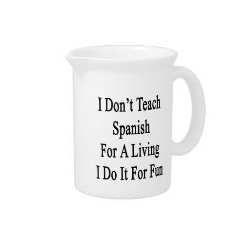 No enseño al español para una vida que la hago par jarrones