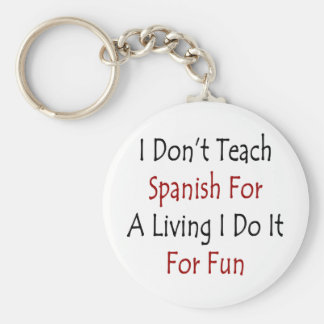 No enseño al español para una vida que la hago par llaveros