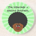 No ensucie alrededor el Internet es negocio serio Posavasos Diseño