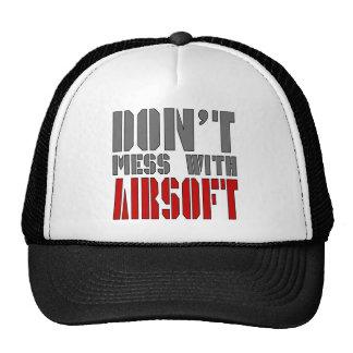 ¡No ensucie con AIRSOFT! Gorro De Camionero
