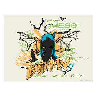 No ensucie con Batman - collage del cuaderno Tarjeta Postal