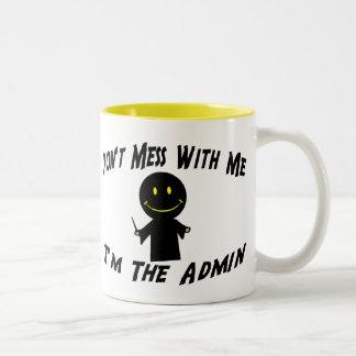 No ensucie con el Admin Tazas De Café