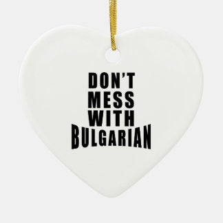 No ensucie con el BÚLGARO Adorno De Cerámica En Forma De Corazón