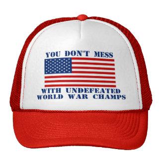 No ensucie con el gorra de los campeones de la gue