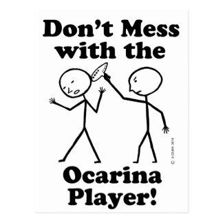 No ensucie con el jugador de Ocarina Tarjetas Postales