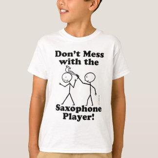 No ensucie con el jugador de saxofón camisas