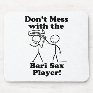 No ensucie con el jugador de saxofón de Bari Alfombrillas De Ratones