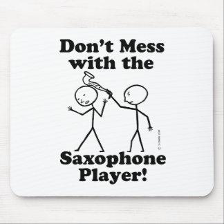 No ensucie con el jugador de saxofón alfombrilla de ratón