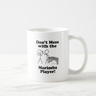 No ensucie con el jugador del Marimba Tazas De Café