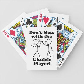 No ensucie con el jugador del Ukulele Cartas De Juego