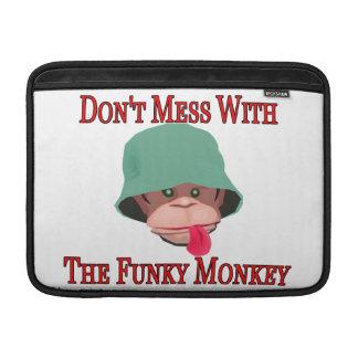 No ensucie con el mono enrrollado fundas MacBook