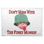 No ensucie con el mono enrrollado mantel individual