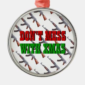 No ensucie con el ornamento del navidad de Navidad Adorno Navideño Redondo De Metal