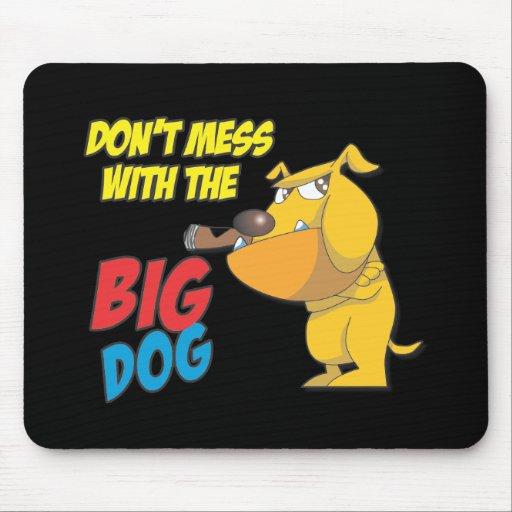 No ensucie con el perro grande Mousepad Alfombrilla De Ratones