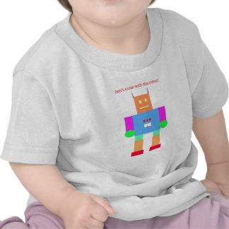 No ensucie con el robot camisetas