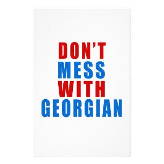 No ensucie con GEORGIANO Papelería