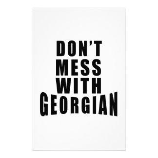 No ensucie con GEORGIANO Papelería De Diseño