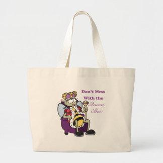 no ensucie con la abeja reina bolsa tela grande