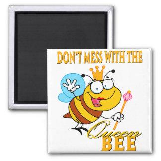 no ensucie con la abeja reina imán cuadrado