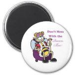 no ensucie con la abeja reina imanes