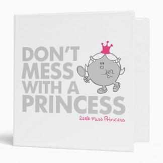 No ensucie con la pequeña Srta. princesa Carpeta 3,8 Cm