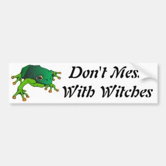 No ensucie con las brujas pegatina para auto