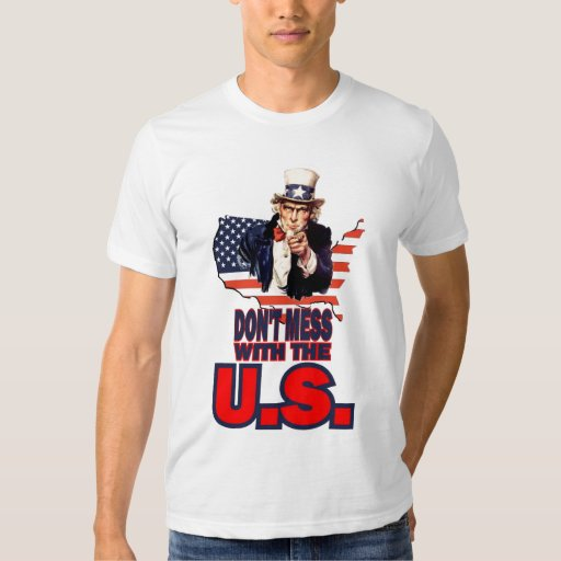 No ensucie con los E.E.U.U. Camisas
