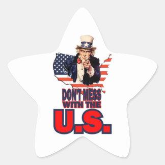 No ensucie con los E.E.U.U. Pegatina En Forma De Estrella